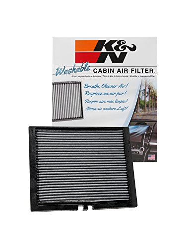 K&N VF2050 Washable & Reusable Cabin Air Filter Cleans and Freshens Incoming Air for your Ford, Lincoln