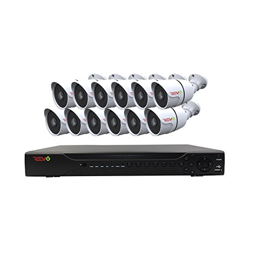 REVO America Aero HD 16 CH Four Megapixel DVR, 2TB HDD & 12x 1080p Indoor/Outdoor IR Bullet Cameras - Remote Access - Backward Compatible with Standard Digital Cameras. -  RAJ162AB12G-2T