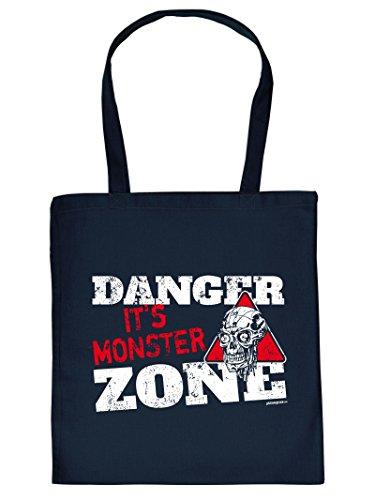 Zombie Halloween Tote Bag Henkeltasche Beutel mit Aufdruck Tragetasche Must-have Stofftasche Geschenkidee