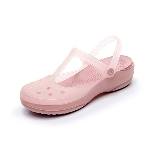 sandali sandali fankou scarpe scarpe spiaggia Estate di casual antiscivolo timbro Jelly Rose Gold colorato foro scarpe da fondo foro piatto femmina 6qY4q5nr