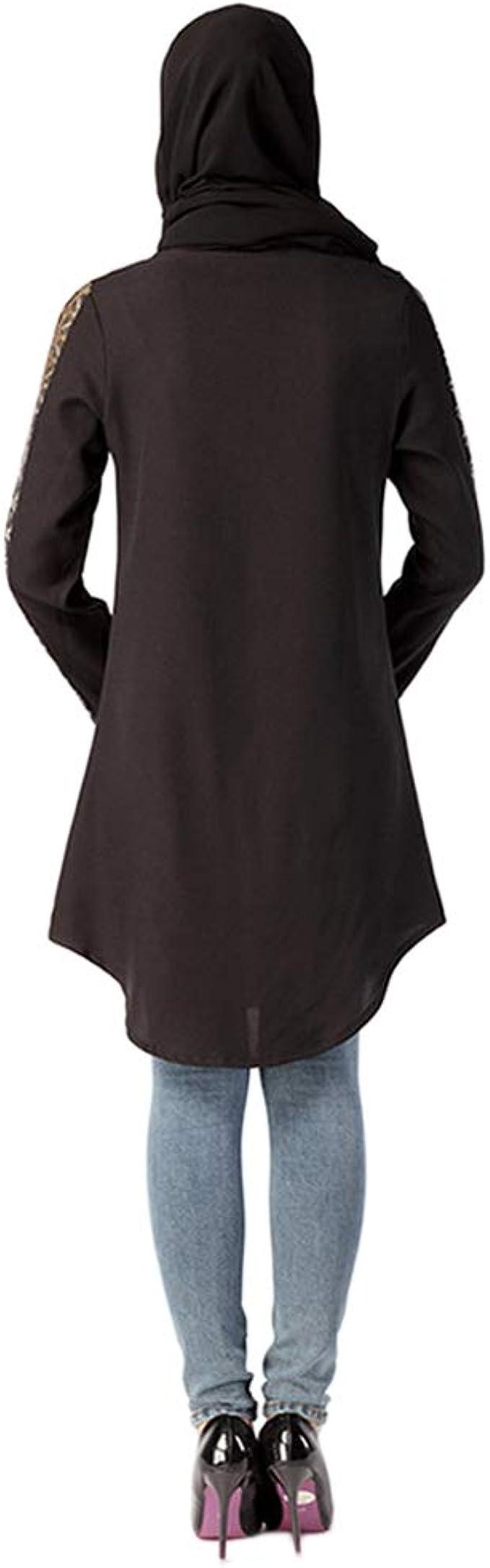Meijunter Camisas de Mujer Musulmana - Camisa Arabe Abaya Vestido Blusa de Kaftan Islámico para Ramadán: Amazon.es: Ropa y accesorios