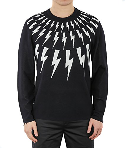 wiberlux-neil-barrett-mens-thunder-prints-knit-pullover-m-navy