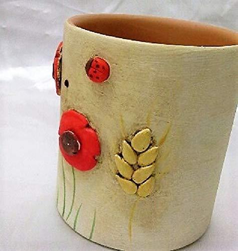Le Ceramiche Del Re Portapenne da Scrivania Portapenne Ceramica Originale Personalizzato