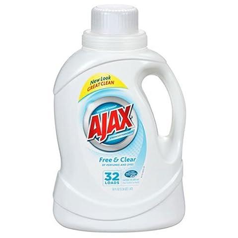PHOENIX BRANDS 49551 Ajax Ultra Free & Clear Liquid Laundry Detergent, 50 oz - Clear Ultra Liquid