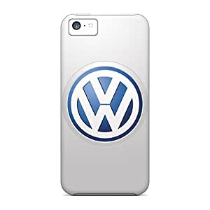 Shockproof/dirt-proof Vw Logo Covers Cases For Iphone(5c)