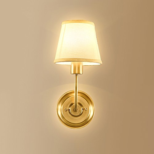 Retro Luxury Brass Wall Lamp Bedroom Bedside Lamp Mirror Front Lamp Wall Decoration Home Decoration Wall Lamp by Crystal (Image #3)