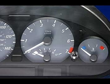 Amazon com: 2000-2006 BMW 3 series Coupe Grey Face Gauges