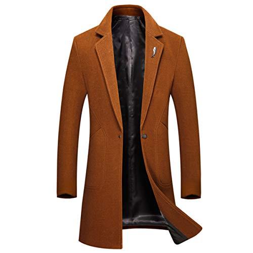 Classique Manteau Slim l Boutonnage Noir De Simple coat Hiver Fit Homme Sliktaa Chaud Orange Trench Laine Xxs Long Mode Caban Ow8HFdndqg