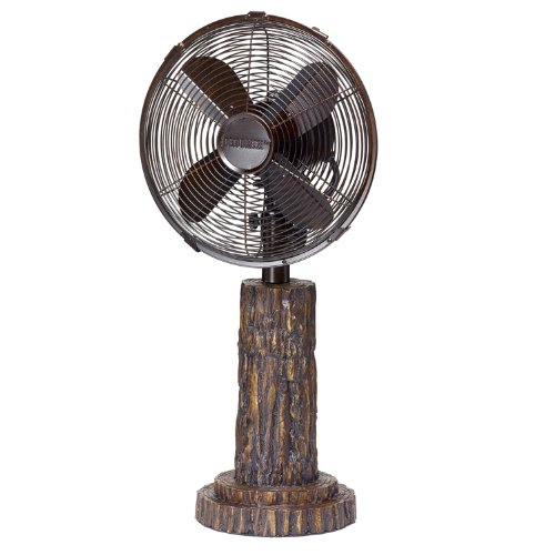DecoBREEZE Oscillating Table Fan 3 Speed Air Circulator Fan, 10 In, Fir Bark