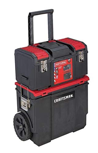 CRAFTSMAN DIY Wheeled Lockable Tool Organizer with Detachable Tool Box (Garden Set Tool Telescopic)