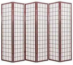 Japanese Oriental Style Room Screen Divider Cherry 6 Panel