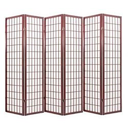 ACME 02277 Naomi 3-Panel Wooden Screen, Cherry Finish (Cherry, 6 Panel)