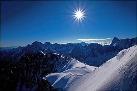 Reproduction Haut de Gamme Climber on The Mont Blanc de Gianluca Colla//National Geographic Nouveau Poster Poster 30 x 20 cm