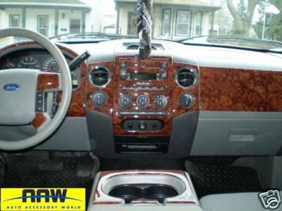 Elegant FORD F 150 F150 F 150 INTERIOR BURL WOOD DASH TRIM KIT SET 2004 2005