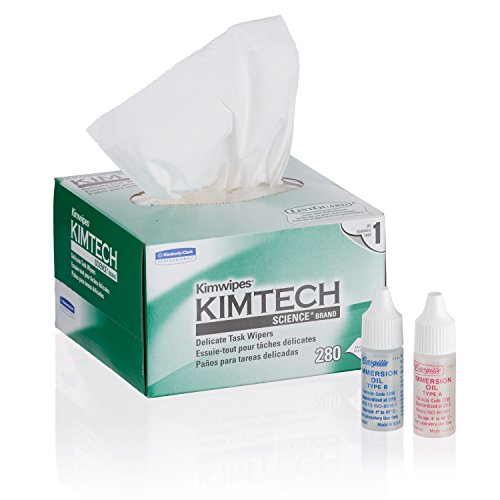 AmScope MLAB-KIM Microscope Maintenance Kit - Type A & B Immersion Oils and Kimwipes Wipers