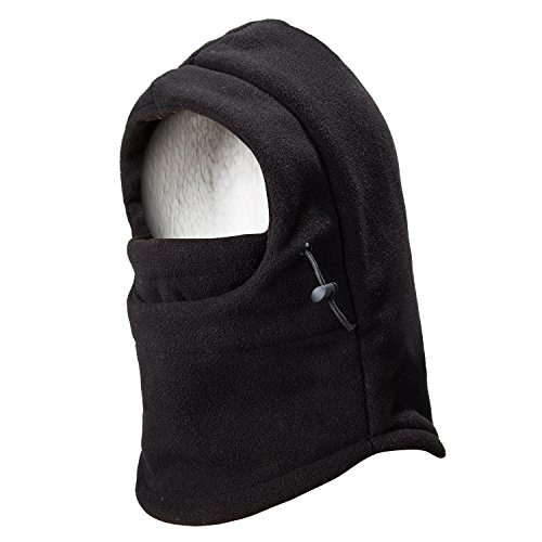 Youth Balaclava (REDESS Kids Winter Windproof Hat, Unisex Children Heavyweight Balaclava, Ski Mask With Thick Warm Fleece Face Cover For Kids Black)