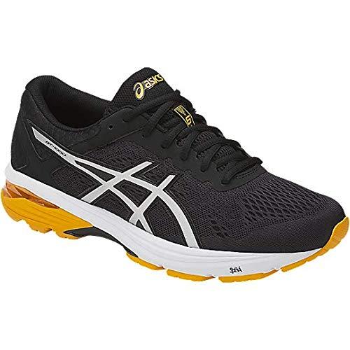 - ASICS Mens GT-1000 6 Running Shoe, Black/Silver/Gold Fusion, 13 Medium US