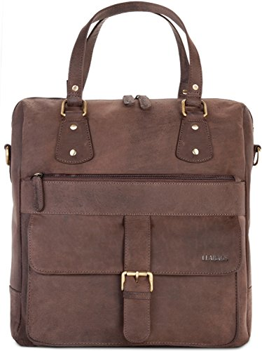 Fremont Leabags Handbag Genuine Buffalo Leather In Vintage Style - Nuezmoscada