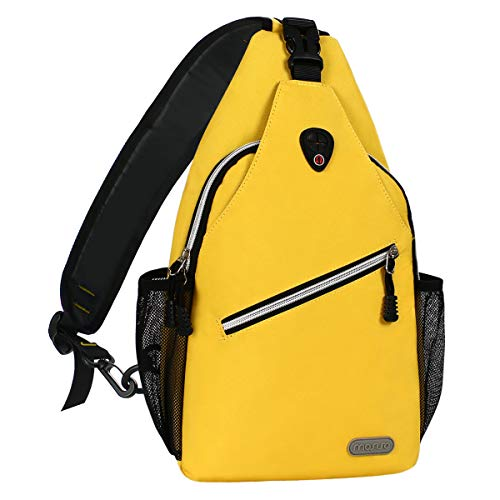 MOSISO Rope Sling Backpack (Up to 13 Inch), Multipurpose Crossbody Chest Shoulder Outdoor Travel Hiking Daypack, Yellow ()