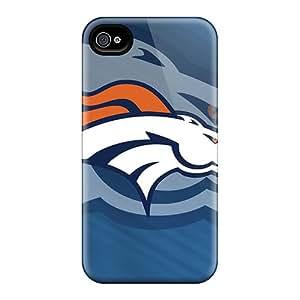 Bumper Hard Phone Cases For Iphone 4/4s (aYn2241rYHl) Provide Private Custom High-definition Denver Broncos Image
