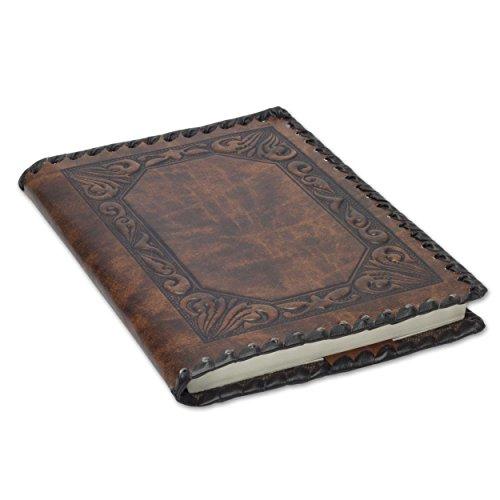 Fiesoli großes Nachfüllbar Notizbuch, Handgearbeitet in klassischem Italienischem Stil, Tagebuch (18x24 cm) Braun