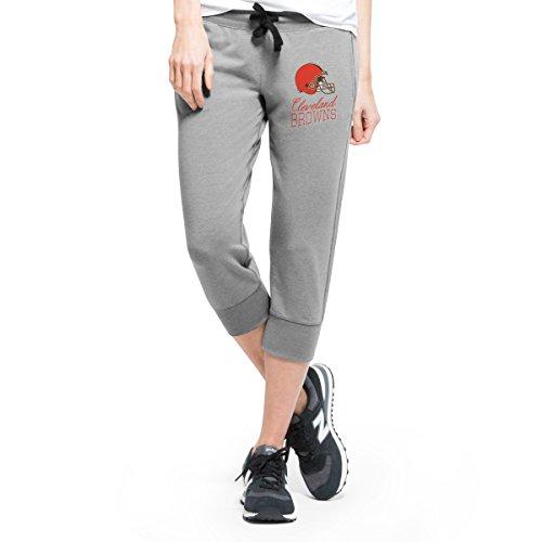 NFL Cleveland Browns Women's '47 Forward Stride Capri Pants, Shift Grey, Large