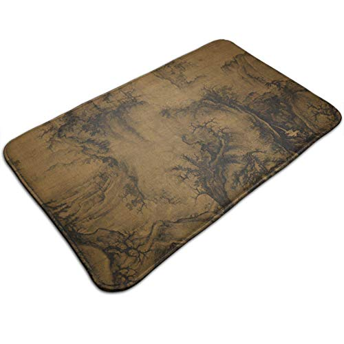 (Tuoneng Chinese Art Painting,Entrance Rug Floor Mats Non Slip Easy Clean Door Mat Carpet for Indoor Outdoor High Traffic Areas 19.5