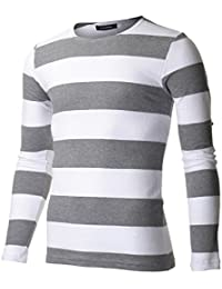 Men's Slim Fit Striped Long Sleeve T-shirt