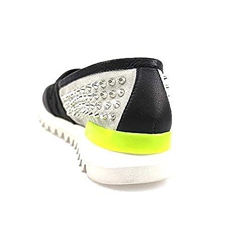 AL Alto LIVELLO ZX965 Zapatos Elegantes Hombre 42 EU Textil Negro PW6MdV3
