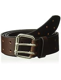 Dickies Cinturón de piel 100% para hombre con hebilla de doble diente, construcción resistente