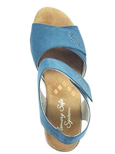 Cinzia Soft  781042 Camoscio Jeans, Damen Sandalen Camoscio Jeans