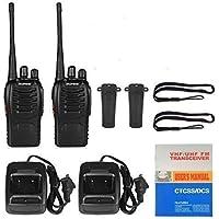 ELE ESPIRIT BF-888S UHF 400-470MHz CTCSS/DCS Handheld Amateur Radio Tranceiver Walkie Talkie Two Way Radio Long Range Black (Pack of 2)