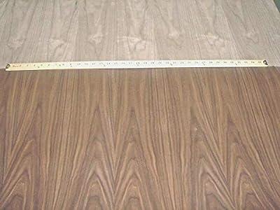 "Walnut wood veneer sheet 24"" x 24"" on paper backer 1/40th"" thickness ""A"" grade"