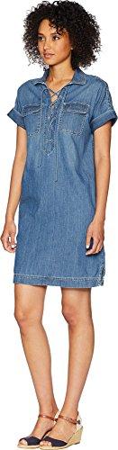 Chaps Denim Des Femmes Des Lacets Shirtdress Portland Lavage