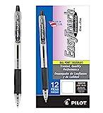 Pilot Pen EasyTouch Retractable Fine Ballpoint Pen Pack(Pack of 12) , Black (32210)