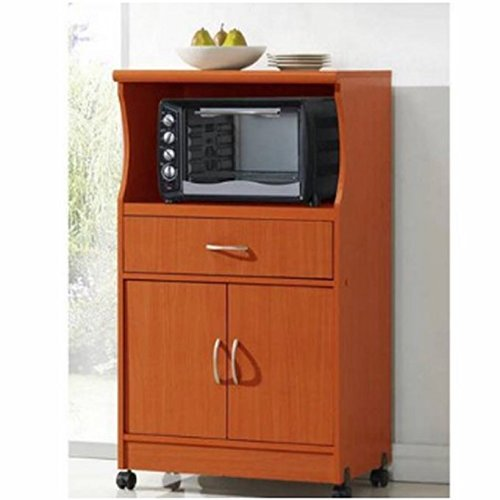 Hodedah Microwave Stand, Multiple Colors (cherry) by Hodedah