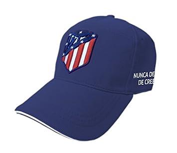 Producto Oficial Atletico de Madrid Gorra Oficial ATLETICO DE MADRID - Azul - Nunca dejes de creer - Adulto: Amazon.es: Deportes y aire libre