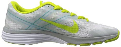 Zapatillas De Running Nike Mujeres Dual Fusion Tr 2 Print-blanco / Venom Green / Grey-10