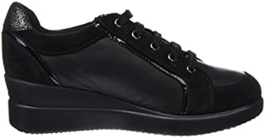 6b8396d59408e Geox Women's Stardust 19 Fashion Sneaker, Black, 41 EU/10.5 M US ...