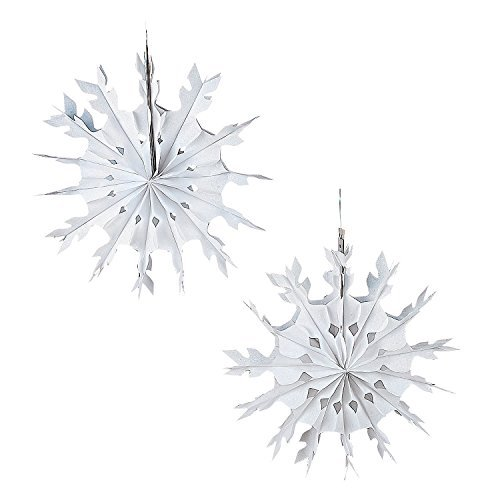 1 Dozen - Large Tissue Snowflakes - 15 Inch Size
