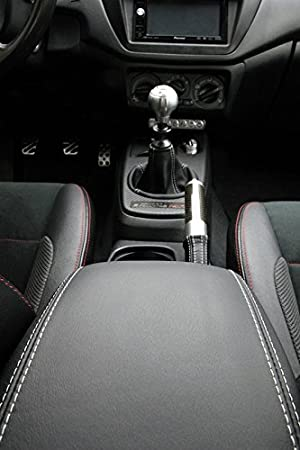 6-spd RedlineGoods gear gaiter compatible with Mitsubishi Lancer Evo 7//8//9 2001-07 Black Alcantara-Blue thread gaitor