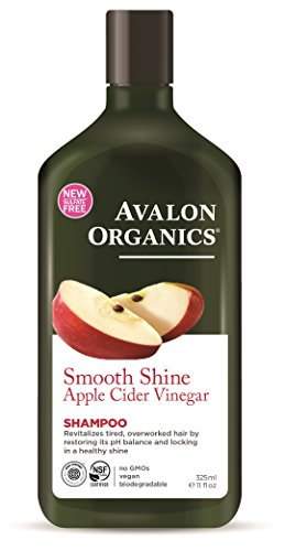 Avalon Organics Smooth Shine Apple Cider Vinegar Shampoo, 11 Ounce (Pack of (Avalon Organics Bar Soap)
