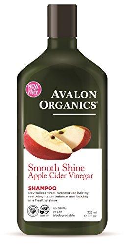Avalon Organics Smooth Shine Apple Cider Vinegar Shampoo, 11 Ounce (Pack of (Nature Apple Shampoo)