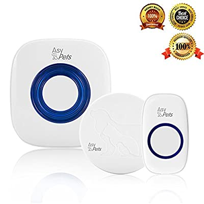 Asypets Wireless Doorbell Chime With Smart Pet Training Door Bell