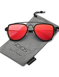 SojoS Gafas De Sol Hombres Mujeres Unisex Aviator Clásico Doble Puente  SJ1051 SJ5018 4d7eca3af7