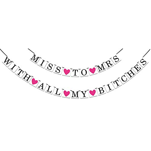 2-in-1 Miss To Mrs Classy & Sassy Bachelorette Party Banner by Sterling James Co.