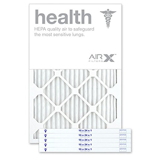 AIRx Filters Health 16x24x1 Air Filter MERV 13 AC Furnace Pleated Air Filter Replacement Box of 6, Made in the USA by AIRx Filters