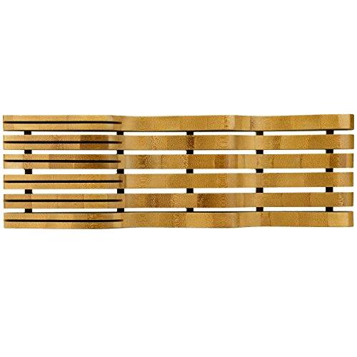 Organic Bamboo Knife Block Organizer, Heim Concept In- Drawer Premium Bamboo Wood Knife Storage Block - Holds Up To 16 Knives by Heim Concept (Image #1)