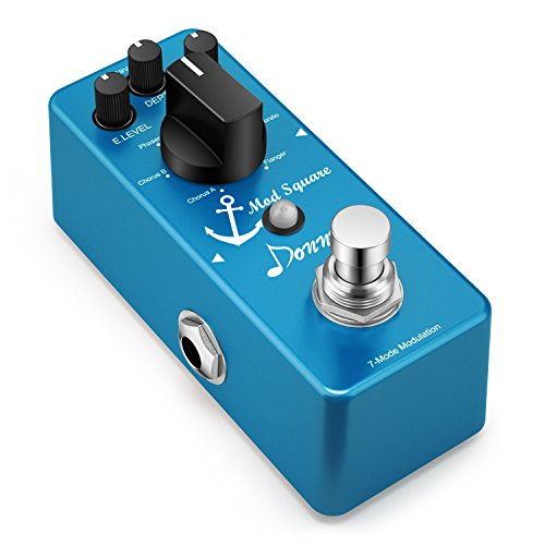Donner Guitar Modulation Effect Pedal Digital Mod Square 7 Mode (Best Phaser Pedal Ever)