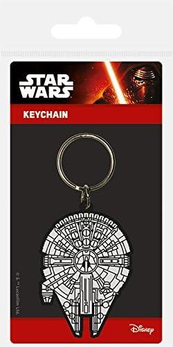 Genuine Star Wars Millennium Falcon Rubber Keyring Key Fob Lucasfilm Hans Solo